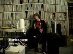 Thurston Moore's impressive record collection.