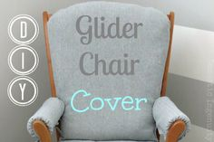 DIY Glider Chair Cover- DIY Glider Chair Cover Time to redo our rocking chair… - Modern Recover Glider Rocker, Glider Rocker Cushions, Rocking Chair Nursery, Rocking Chair Cushions, Glider Chair, Diy Chair, Glider Redo, Rocking Chairs, Glider Rockers