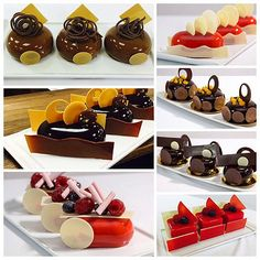 Petit Gateaux for my Hands On class at @sicollege #bachour #bachoursimplybeautiful #valrhona | by Pastry Chef Antonio Bachour