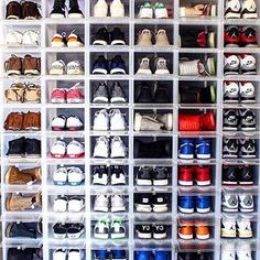 Is The Definition Of Organized Vibes With A Wall Of Drop Front Boxes