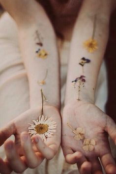 Flowers on my hands