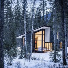 Cool cabin in the woods.