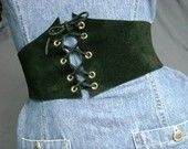 I'd love to have a corset belt… leather, pvc, velvet… as long as it's black, I'll love it!