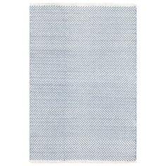 Dash & Albert Herringbone Swedish Blue Cotton Woven Rug