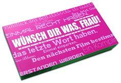 Gutscheinbuch für Frauen: WÜNSCH DIR WAS, FRAU! POST AUS ... https://www.amazon.de/dp/B0170AX2OI/ref=cm_sw_r_pi_dp_x_sWyrzbGYDBQ46