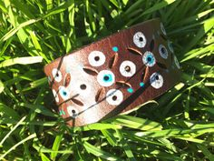 Mystic Leather Punched Hand Painted with by HippieChicHealing, $37.00