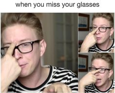 50 Memes About Wearing Glasses That Will Make You Laugh Until Your Eyes Water Funny Relatable Memes, Funny Jokes, Relatable Posts, Funny Images, Funny Photos, Glasses Meme, Single Jokes, People With Glasses, Eyes Problems