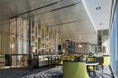 Merge Design Concept Hotel Lounge, Lobby Lounge, Restaurants, Hotel Lobby Design, Architecture Design, Lobby Interior, Lounge Design, Hotel Interiors, Cool Apartments