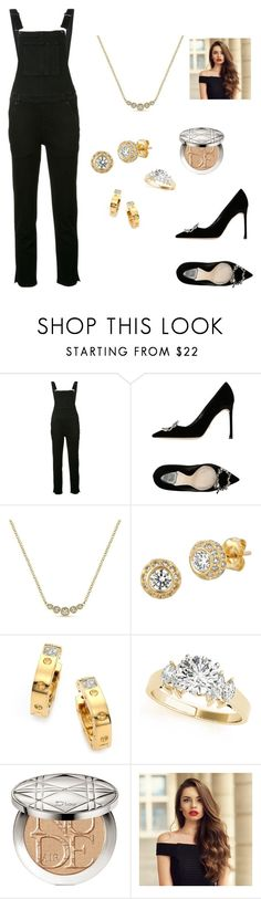 """""""Self-Importance"""" by lemonsandroses on Polyvore featuring Ksubi, Christian Dior, Gabriel & Co., Morris & David and Roberto Coin"""