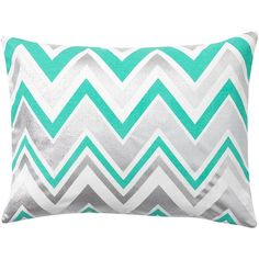 PB Teen Shimmer Zig Zag Pillow Cover, 12X16, Royal Navy at Pottery... ($13) ❤ liked on Polyvore featuring home, home decor, throw pillows, pbteen, navy toss pillows, zig zag throw pillows, navy blue throw pillows and chevron home decor
