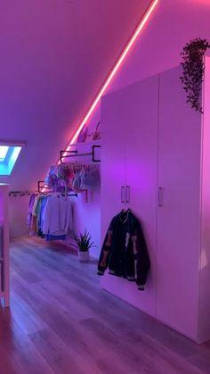 Neon Bedroom, Room Design Bedroom, Room Ideas Bedroom, Bedroom Inspo, Girls Bedroom, Bedroom Furniture, Master Bedroom, Bedroom Decor, Chill Room