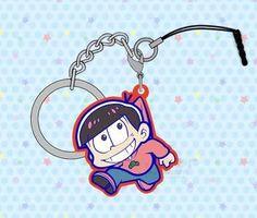 Hot New Osomatsu-san Anime Animation Acrylic Key Chain Hanging Drop Dust Plug Mobile Chain Phone Chain
