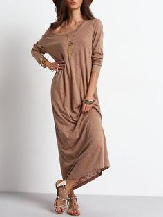 6e21ab93a09e0 Belt  NO Fabric  Fabric has some stretch Season  Fall Type  Sweater Pattern  Type  Plain Sleeve Length  Long Sleeve Color  Apricot Dresses Length  Maxi  ...