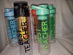 Excited to share the latest addition to my #etsy shop: Teacher watet bottles. Teacher,waterbottle,infuse water bottles,drinks,bottles,fruit,veg,ice, https://etsy.me/2JiLove