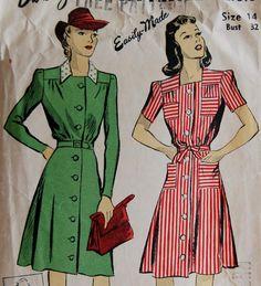 Vintage 1940s DuBarry Misses' Dress Pattern par NostalgiaVintage2, $10,50