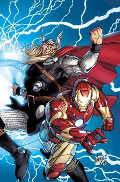Thor and Iron Man ®