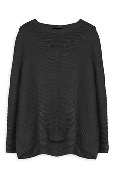 Black Knitted Pullover