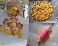 Crackers de farinha de coco Sem açúcar, sem glutén