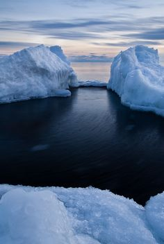 obsol: radivs: Ice Blocks on Superior by Bryan Hansel all nature