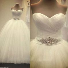 New White Ivory Wedding Bridal dress Formal Ball Gown Custom Size6 8 10 12  14 16 525ccb7e8100