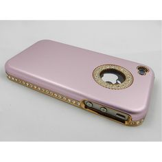 Luxury Unique Best Bling Crystal Rhinestone Aluminum Case Cover For iPhone 4 4S Verizon AT Pink $5.51
