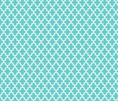 Turquoise Moroccan fabric by jenniferstuartdesign on Spoonflower - custom fabric
