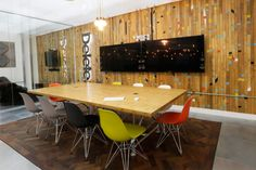 Meeting rooms, open plan office interior at Delete Leeds   by Redesign