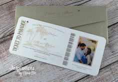 Boarding Pass save the date, Destination Wedding, Boarding Pass Invitations Unique Invitations, Wedding Invitations, Letter E, Travel Themes, Ink Color, Save The Date, Boarding Pass, Destination Wedding, Dating