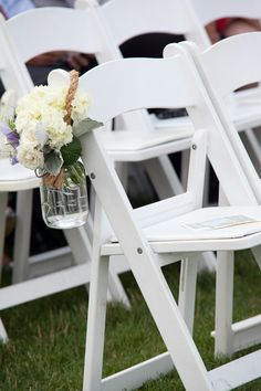 Photography By / http://nicolechaputphotography.com,Floral Design By / http://lilacsflorals.com  white resin chairs