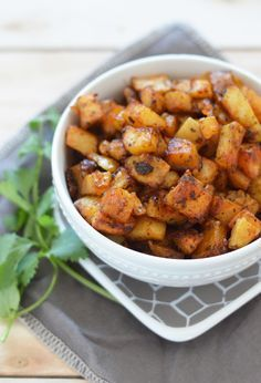 This is my go to recipe for potatoes. My whole family adores them so much that I usually make double batches of it. They cook up crispy on the outside and soft on the inside and are super easy to t...