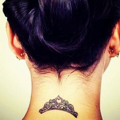 Chic Small Crown Tattoo