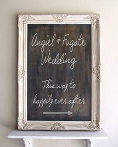Chalkboard Sign RUSTIC WEDDING Sign Framed by ShugabeeLane
