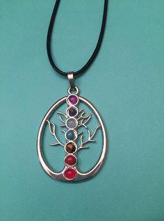 Chakra Pendant Necklace - Tree of Life - Chakra Necklace - Meditation by Jennearth on Etsy https://www.etsy.com/listing/506404974/chakra-pendant-necklace-tree-of-life