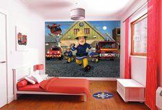 Walltastic Brandweerman Sam, kinderkamer fotobehang, posterbehang van Walltastic.