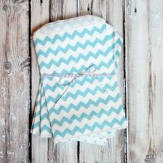 Chevron Favor Bags - Blue - Medium from The TomKat Studio Shop www.shoptomkat.com