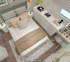 Bedroom Decor For Couples Small, Cozy Small Bedrooms, Small Bedroom Storage, Small Space Bedroom, Small Bedroom Designs, Small Room Decor, Couple Bedroom, Small Rooms, Cozy Bedroom