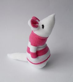 toy sock mouse stuffed animal sock Etsy