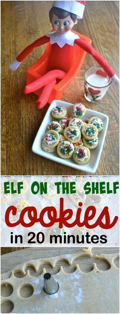 Elf on the Shelf Mini Cookies by Make the Best of Everything