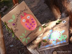 Nature journal reusing cardboard. Cute Environmental education craft. <3