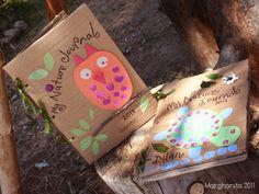 Nature journal reusing cardboard. Cute Environmental education craft. <3