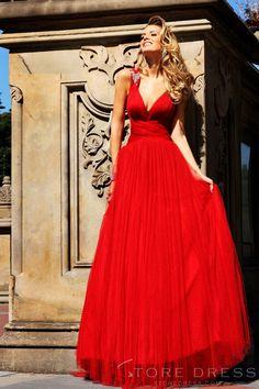 Cheap fashion Sheath / Column V-neck Floor-lengthProm Dress 2014 New Style at Storedress.com
