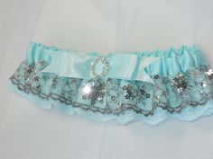 Blue Snowflake garter for the Winter Bride with by ArtHouseBridal, $30.00
