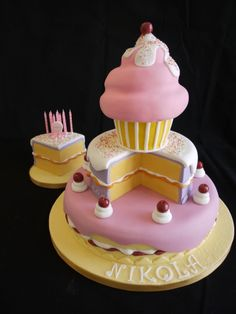 "Cake tower cake - A ""cake"" cake for a teenager"
