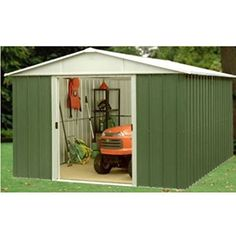yardmaster metal garden shed 8 x 9 10 year guarantee apex rf