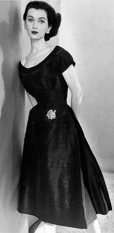 The highest paid model of her time, Dovima, muse of Christian Dior, 1950s