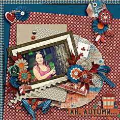 Layout using Autumn Splendor Buffet Collection by JB Studio of Gingerscraps that is now on sale as Artsy Bundle, Mega Bundle or in separate packs are 50% off for a very limited time. Photo is by Linda Perrotta