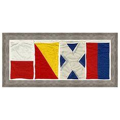 Nautical Flag Home Framed Wall Art