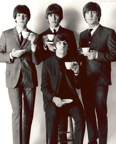 The Beatles  Famous People Drinking Tea
