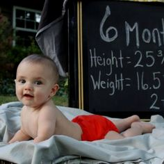 Month pictures: This is one of the MOST adorable babies I've ever seen.