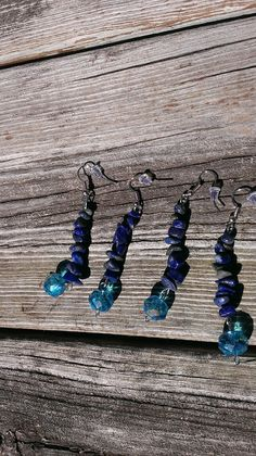 Lapis Lazuli Earrings  Crystal Earrings  by TheEarthDragonsCave